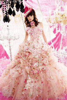 pink wedding dress peachy girl