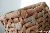 make a basket out of old grocery bags