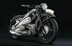 vintage bmw motorcycle   art deco