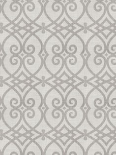 Gatework print pattern 02616 in Dove Gray from the Jaclyn Smith Home - Volume III collection for Trend.