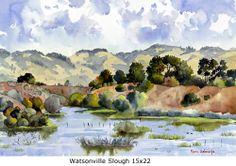 Watsonville Slough, 15x22