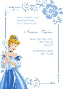 Cinderella Invitation Option#2