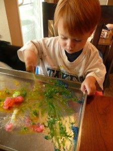 homemade finger paint for toddlers.