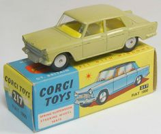 Vintage Corgi diecast model Fiat 1800 in Yellow $200