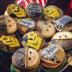G.I. Joe Birthday cupcakes.