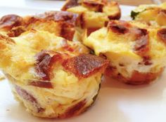 Bacon, Arugula, & Mozzarella Mini Stratas