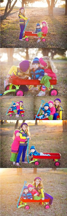 Siblings- love all the bright colors!