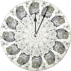 "Silver Agouti 10"" Guinea Pig Wall Clock"
