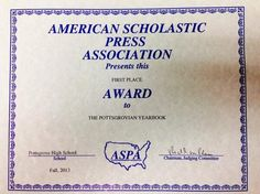Pottsgrovian Yearbook Captures First-Place Award - The Post