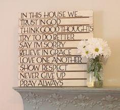 Mensaje en un pallet..., DIY fácil, paso a paso • #DIY #pallet Wall Art, by Love of Family & Home