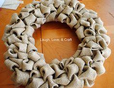 burlap wreaths, idea, felt, crafti, wreath tutori