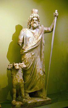 Hades con Cerbero (Museo de Arqueología de Creta.  Adriana Cariño