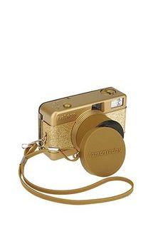 Gold Sparkle Lomography Fisheye Camera