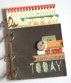 mini book by Nicole Harper - made with our GET MESSY class kit