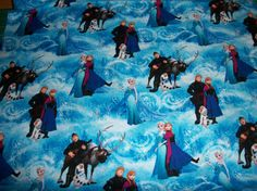 Disney's Frozen print all characters on by SunshineBabyandQuilt