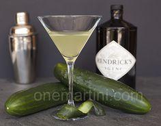 Cucumber Gin Martini. Cucumber, lemon juice, Hendrick's gin, St. Germain.