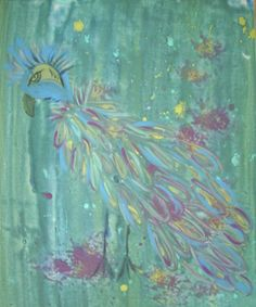 My new art addiction..Peacocks