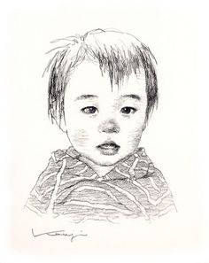 Charcoal Portraits Yuto  by Ken Mat