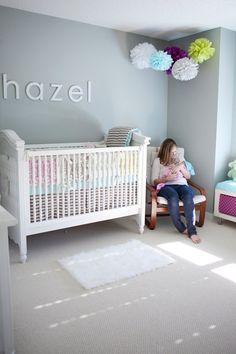 Simple grey nursery