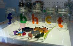at home, activ, homes, letters, light table, jars, beginning sounds, kid, letter sounds