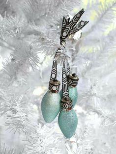 Repurpose old bulbs into pretty ornaments