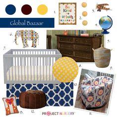 """""""Global Bazaar"""" Nursery Design Board #designboard #nursery"""