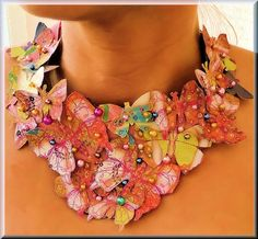 Statement Bib Butterfly Necklace