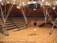 The interior view of the Beggs ISD gymnasium/event center in Beggs, Oklahoma. The airform® was supplied by Monolithic Constructors, Inc. located in Italy, Texas. — www.monolithic.com