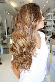 Honey-colored hair