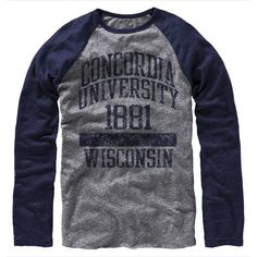 Product: Concordia University 1881 Wisconsin Long Sleeve T-Shirt $32.00