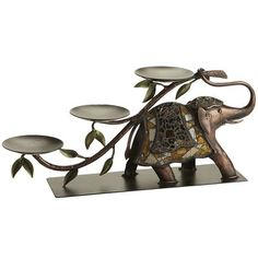 this is gorgeous...could put candles on it...Mosaic Elephant Centerpiece