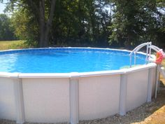 Above ground swimming pools on pinterest swimming pools for Blue world pools