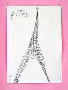 la tour eifel craft for party?