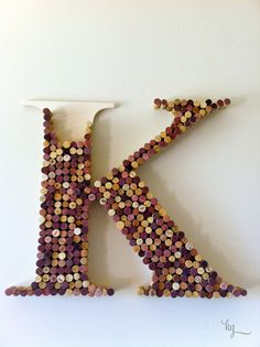 Cork monogrammed letter wine corks, cork monogram, cork boards, craft stores, monogram letter