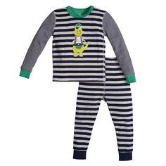 Sleepwear Dragon Pirate Striped 2 Piece Pajama   Petit Lem