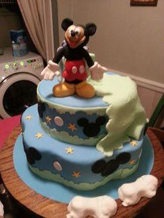 mickey baby shower cake jc creations cakes pinterest