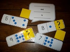 printable cards, math centers, multiplication facts, number words, envision math, game, decomposing numbers, number sense, dot