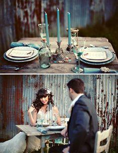 Vintage Wedding Decor   Vintage Inspired Love Story   Green Wedding Shoes Wedding Blog ...