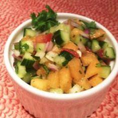Cucumber Melon Salsa
