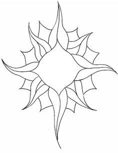 Stained Glass Sunburst Pattern