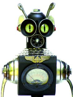 CAPTAIN zANN ~ Assemblage Robot Sculpture | Flickr - Photo Sharing!