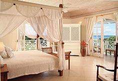 Master Bedroom in this luxurious villa in Barbados