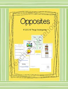 Fun With Opposites product from AllThingsKindergartenShop on TeachersNotebook.com