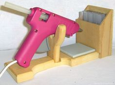 Glue gun holder! Would LOVEE to make one of theses!