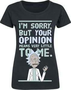 Your Opinion | Rick And Morty T-shirt | Large