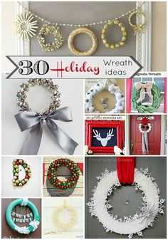 30 holiday wreaths to make