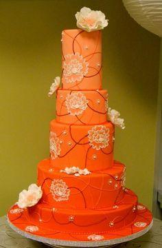 orang cake, ombr orang, cake wrecks, beauti cake, color, flower cakes, big orang, cake designs, cake tier