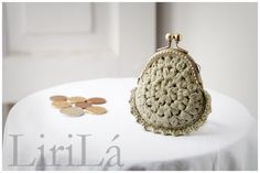 Monedero tejido a crochet