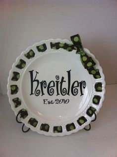 vinyl on plate