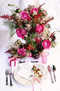 Pink tablescape - photo by Tory Williams